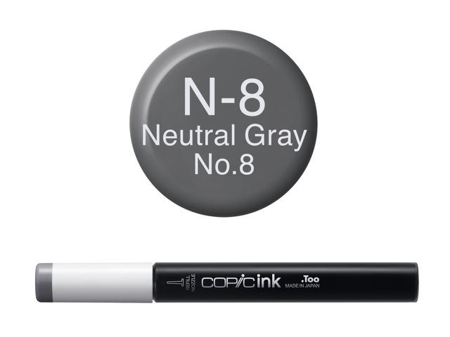 COPIC INKT NW N8 NEUTRAL GRAY 8 1