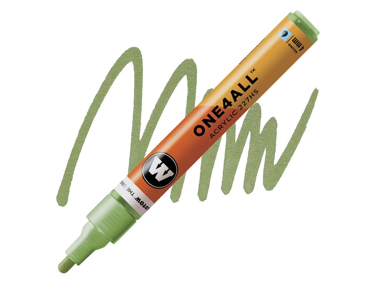 MOLOTOW ONE4ALL MARKER 227HS 226 4MM METALLIC LIGHT GREEN 1