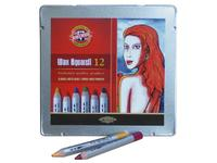 KIN WAX AQUAREL POTLODENSET BLIK 24 ASSORTI
