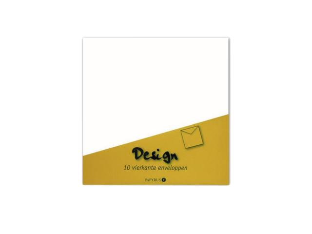 ENVELOP PAPYRUS DESIGN 140X140 80GR 10ST WIT