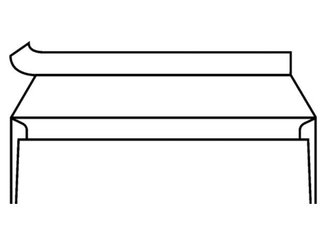 ENVELOP BANK VENSTER C5/6 114X229MM VR ZK+STRIP WT