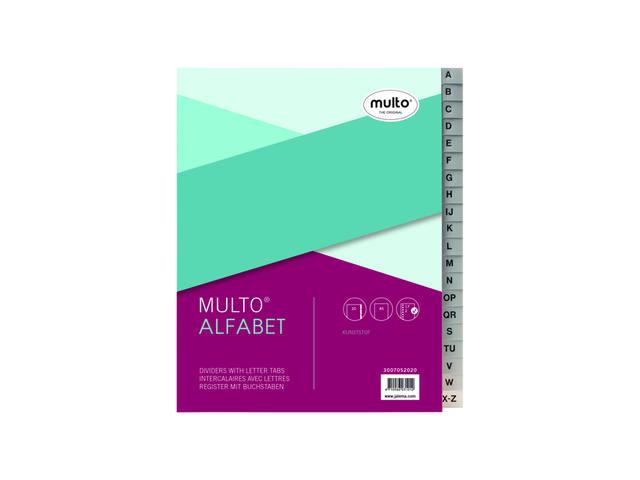 TABBLADEN MULTO 7052020 A5 17R PP A-Z GRIJS