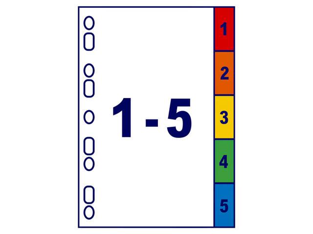 TABBLADEN AVERY READYINDEX A4 4R 5DLG 2