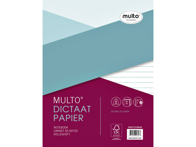 INTERIEUR MULTO 17R DICTAAT 80GR 50VEL