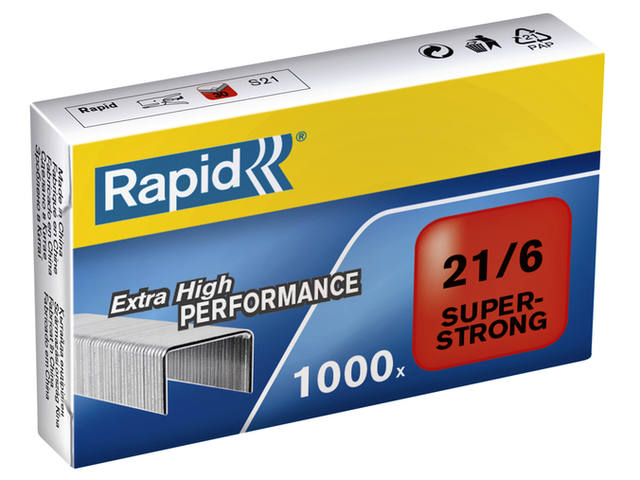 NIETEN RAPID 21/6 GEGALV SUPER STRONG 1000ST 1