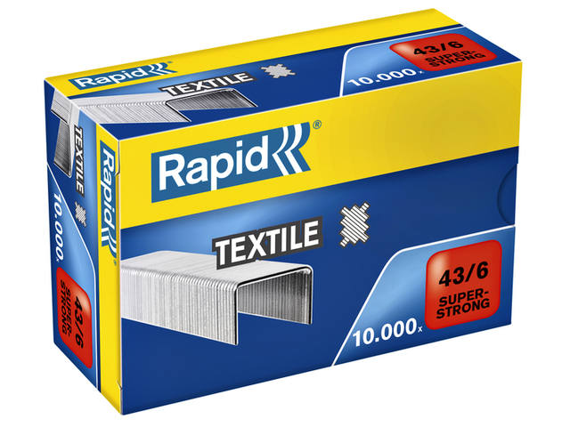 NIETEN RAPID 43/6 TEXTIEL SUPER STRONG 10.000ST 1