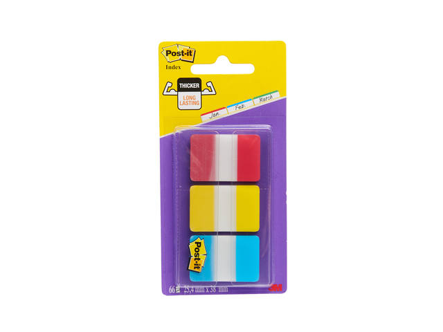 INDEXTABS 3M POST-IT 686RYB STERK 25MM ASS