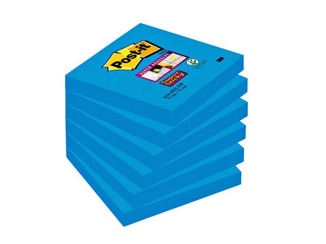 MEMOBLOK 3M POST-IT 654-SSEB 76X76MM STICKY ELECTRIC