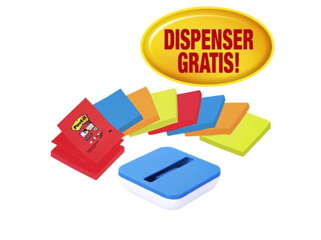 MEMOBLOKDISPENSER 3M POST-IT Z-NOTE SSVALP