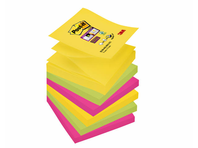 MEMOBLOK 3M POST-IT S330-6RO 76X76MM KLEURRIO
