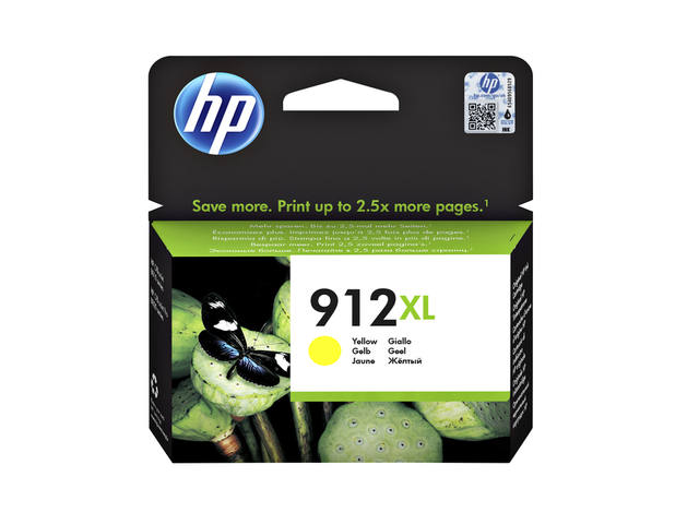 INKCARTRIDGE HP 912XL 3YL83AE GEEL