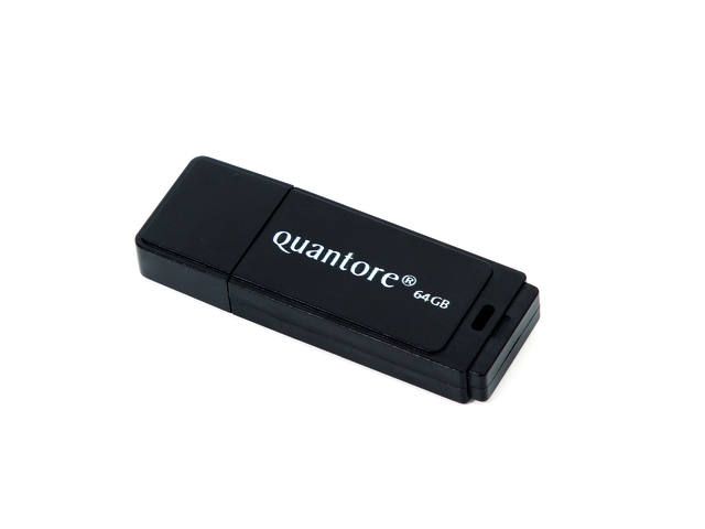 USB-STICK QUANTORE 64GB 2.0 ZWART