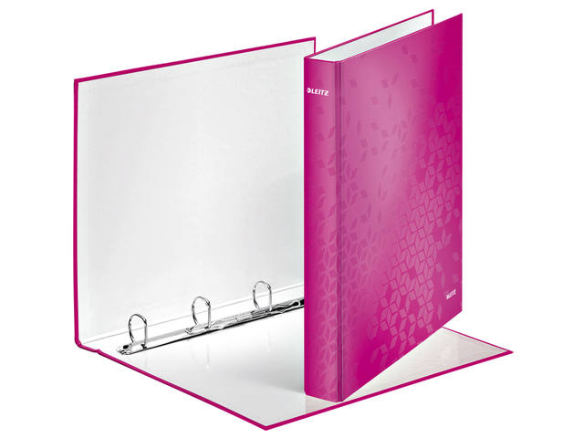 RINGBAND LEITZ WOW 4242 4RINGS A4 25MM ROZE 1