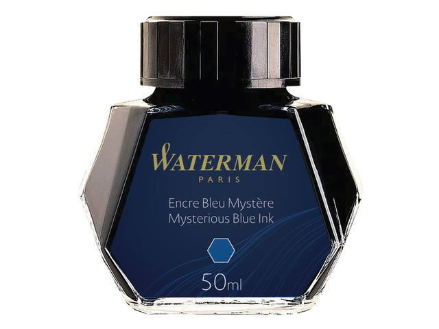 VULPENINKT WATERMAN 50ML STANDAARD BLAUW/ZWART