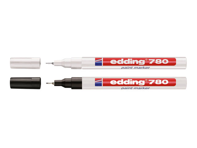 VILTSTIFT EDDING 780 LAK ROND 0.8MM WIT 2