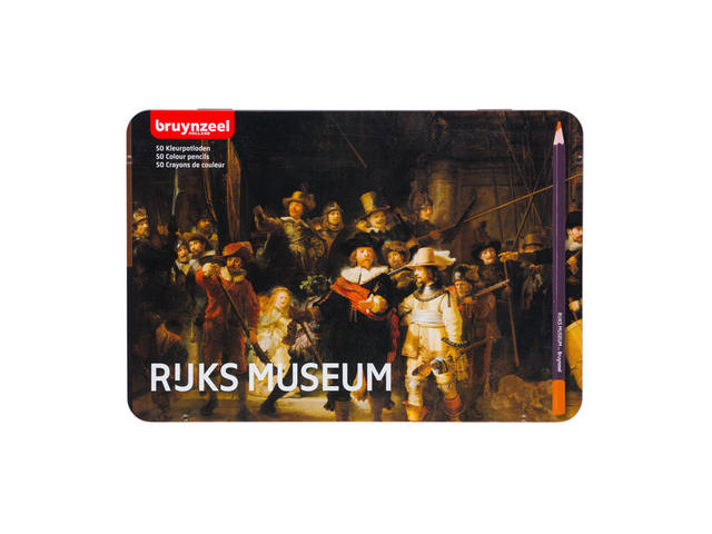 BLIK 50 KLEURPOTLODEN BRUYNZEEL NACHTWACHT - RIJKSMUSEUM