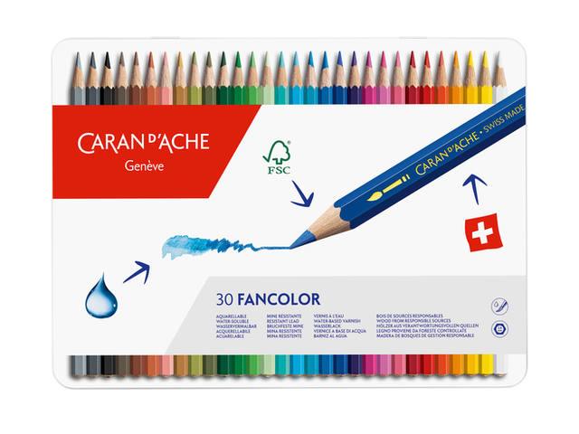 CARAN D'ACHE FANCOLOR WASSERVERMALBARE FARBSTIFTE 1288.330