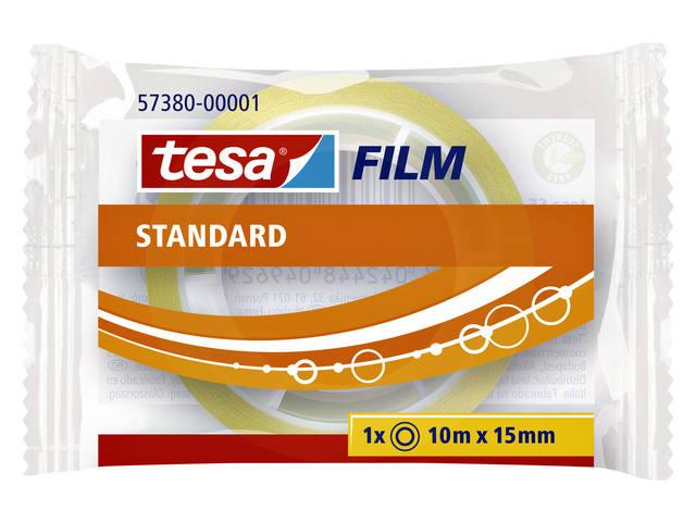 PLAKBAND TESA 57380 15MMX10M STANDAARD TR