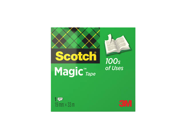 SCOTCH 3M MAGIC KLEBEBAND 1 ROLLE 19MM X 3MTR