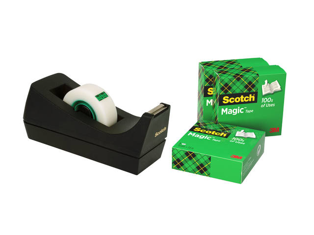 PLAKBAND 3M SCOTCH 19MMX33M MET TAPEHOUDER MAGIC