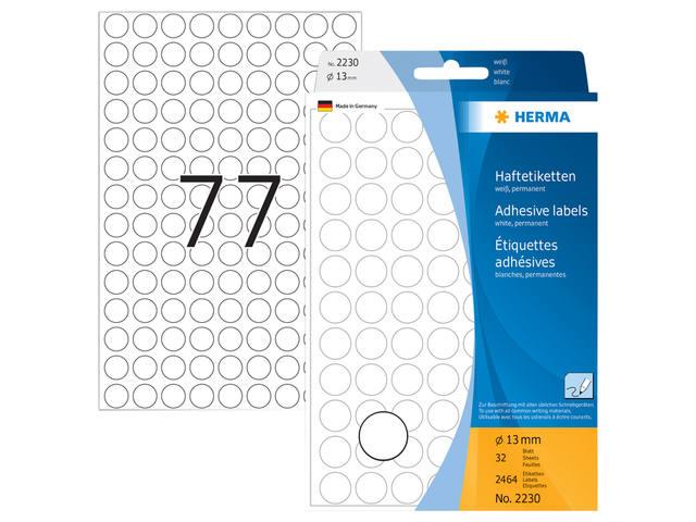 ETIKET HERMA 2230 ROND 13MM 2464ST 3