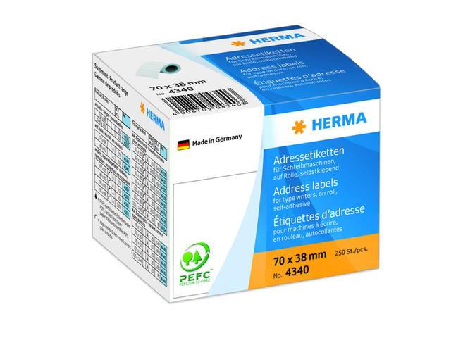 ETIKET HERMA ADRES 4340 70X38MM 250ST 1