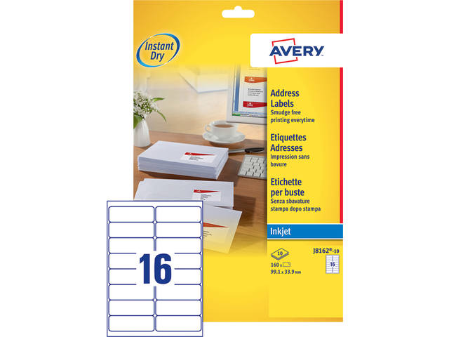 ETIKET AVERY J8162-100 99.1X33.9MM 1600ST