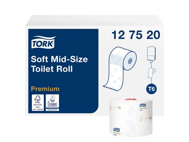 TOILETPAPIER TORK T6 MID-SIZE 2LAAGS PREMIUM 27 ROL 127520