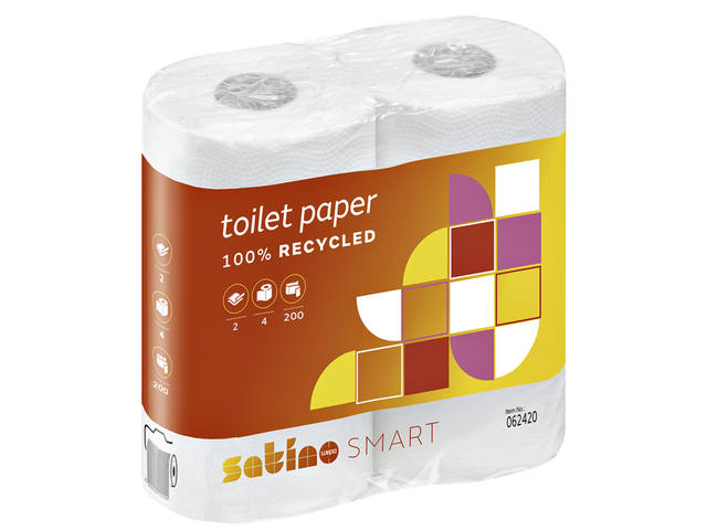 TOILETPAPIER SATINO 2-LAAGS 200V WIT
