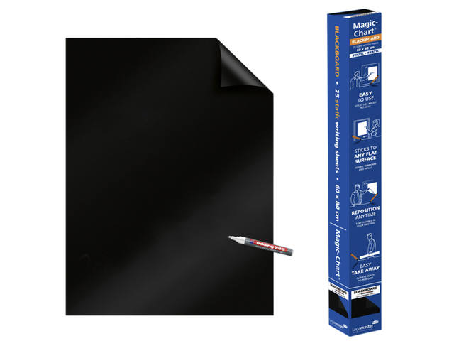 MAGIC-CHART LEGAMASTER WHITEBOARD 60X80CM ZWART