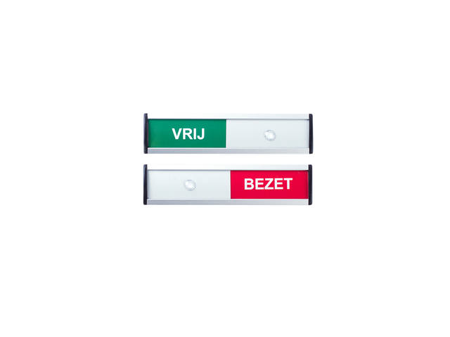 INFOBORD VRIJ/BEZET 125X30MM