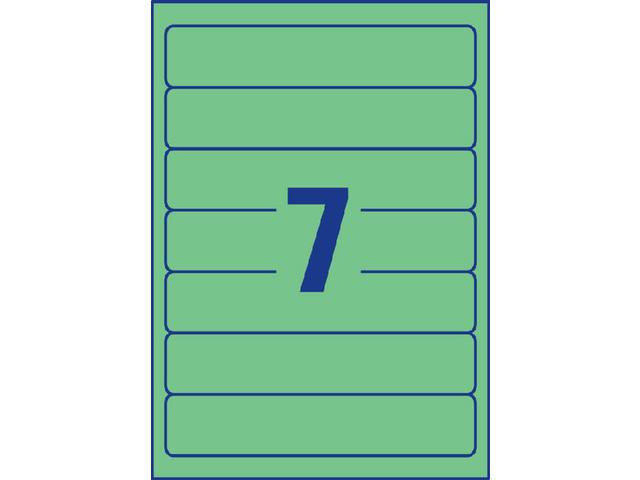 RUGETIKET AVERY ZWECK L4764-20 192X38MM GROEN 140ST 3