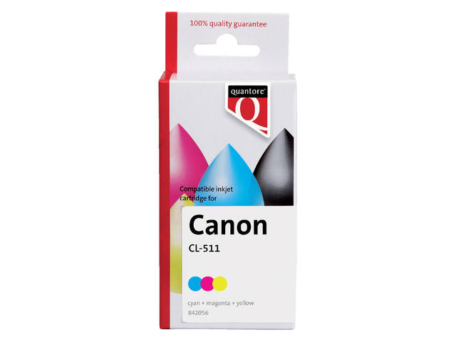 INKCARTRIDGE QUANTORE CAN CL-511 KLEUR