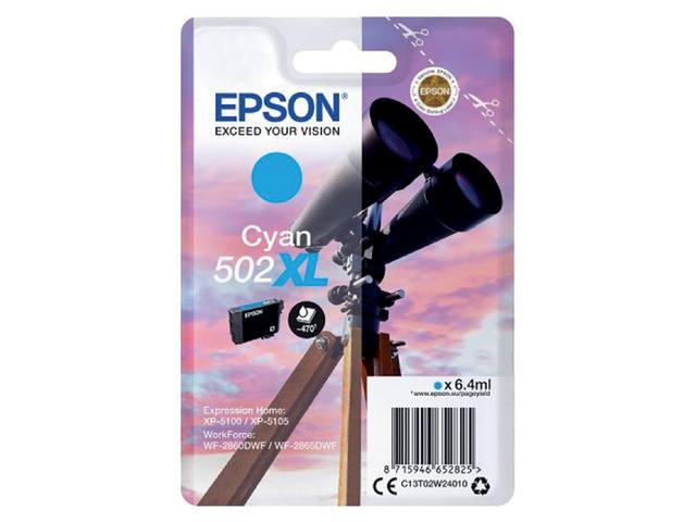 INKCARTRIDGE EPSON 502XL T02W2 BLAUW