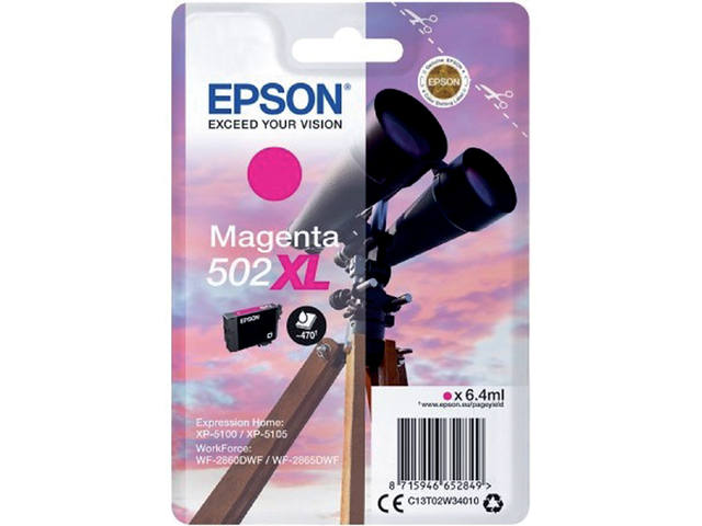 INKCARTRIDGE EPSON 502XL T02W3 ROOD