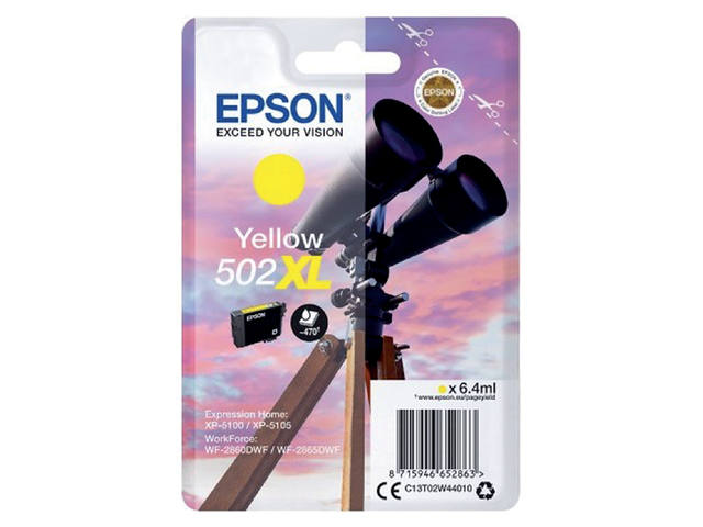 INKCARTRIDGE EPSON 502XL T02W4 GEEL