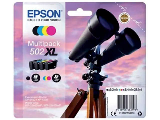 INKCARTRIDGE EPSON 502XL T02W6 ZWART + 3 KLEUREN