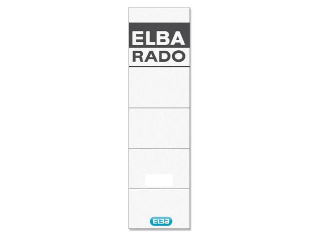 RUGETIKET ELBA RADO 44X159MM WIT