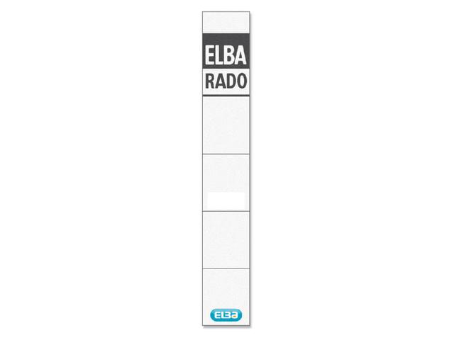 RUGETIKET ELBA RADO 24X159MM WIT