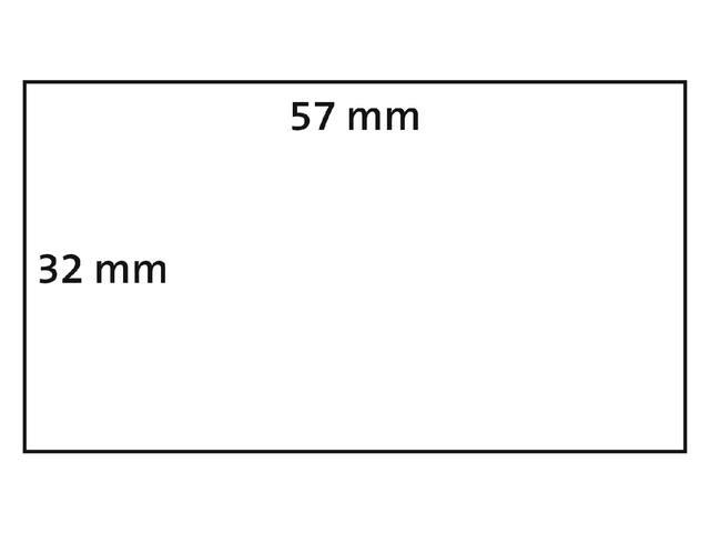 LABEL ETIKET DYMO DURABLE 19330 57MMX32MM WIT 3