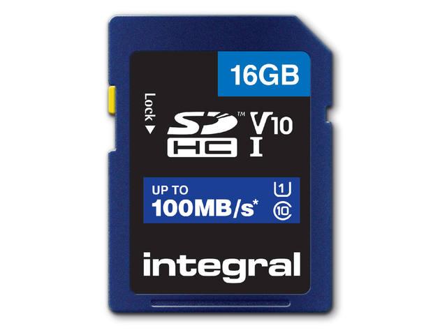 GEHEUGENKAART INTEGRAL SDHC V10 16GB 1
