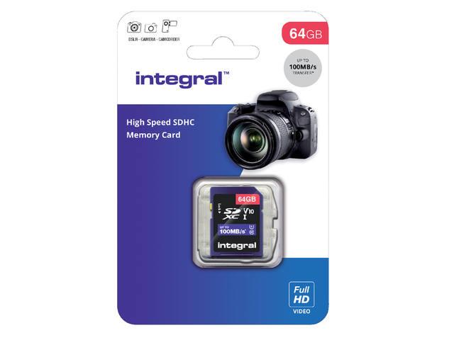 GEHEUGENKAART INTEGRAL SDHC V10 64GB 2