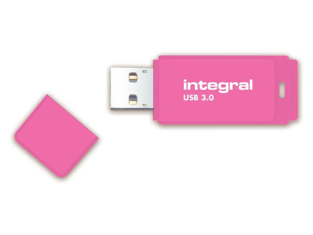USB-STICK INTEGRAL 128GB 3.0 NEON ROZE 2