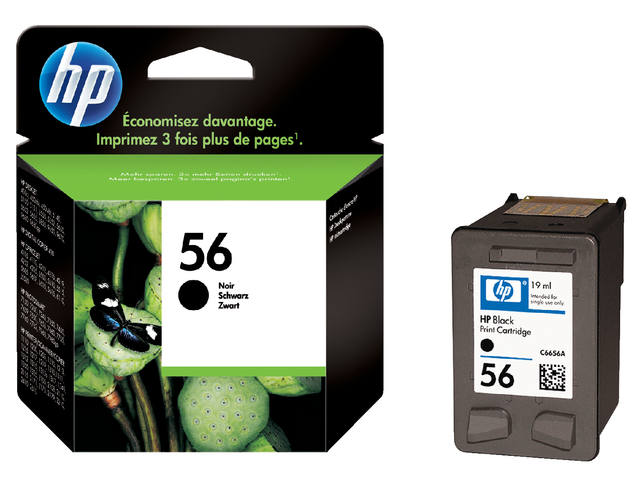 INKCARTRIDGE HP 56 C6656AE HC ZWART