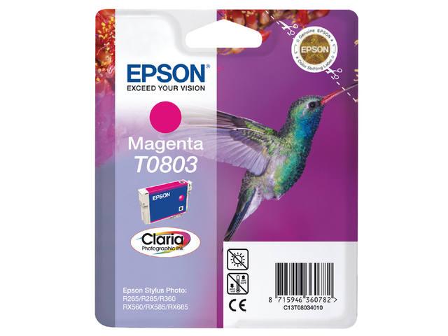 INKCARTRIDGE EPSON T080340 ROOD 1
