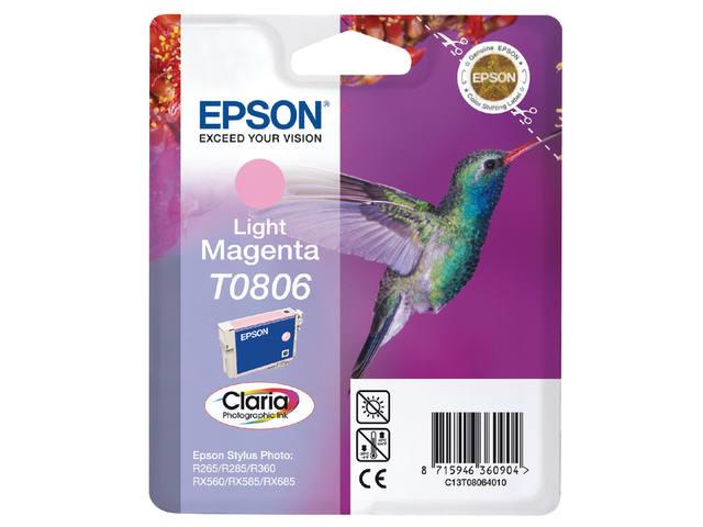 INKCARTRIDGE EPSON T080640 LICHT ROOD