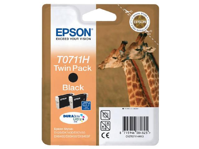 INKCARTRIDGE EPSON T07114 HC 2X ZWART