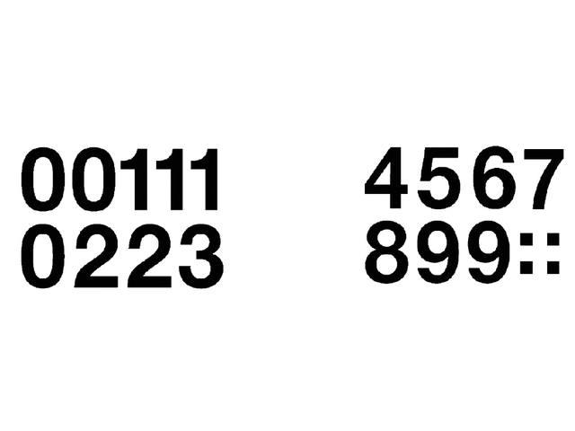 ETIKET HERMA 4189 GETALLEN 0-9 33MM 16ST ZWART
