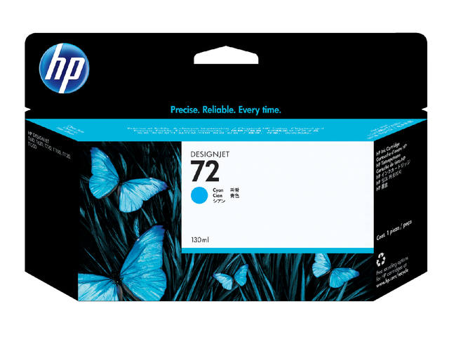 INKCARTRIDGE HP 72 C9371A HC BLAUW