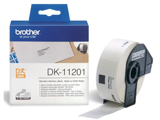 LABEL ETIKET BROTHER DK-11201 29MMX90MM ADRES WIT